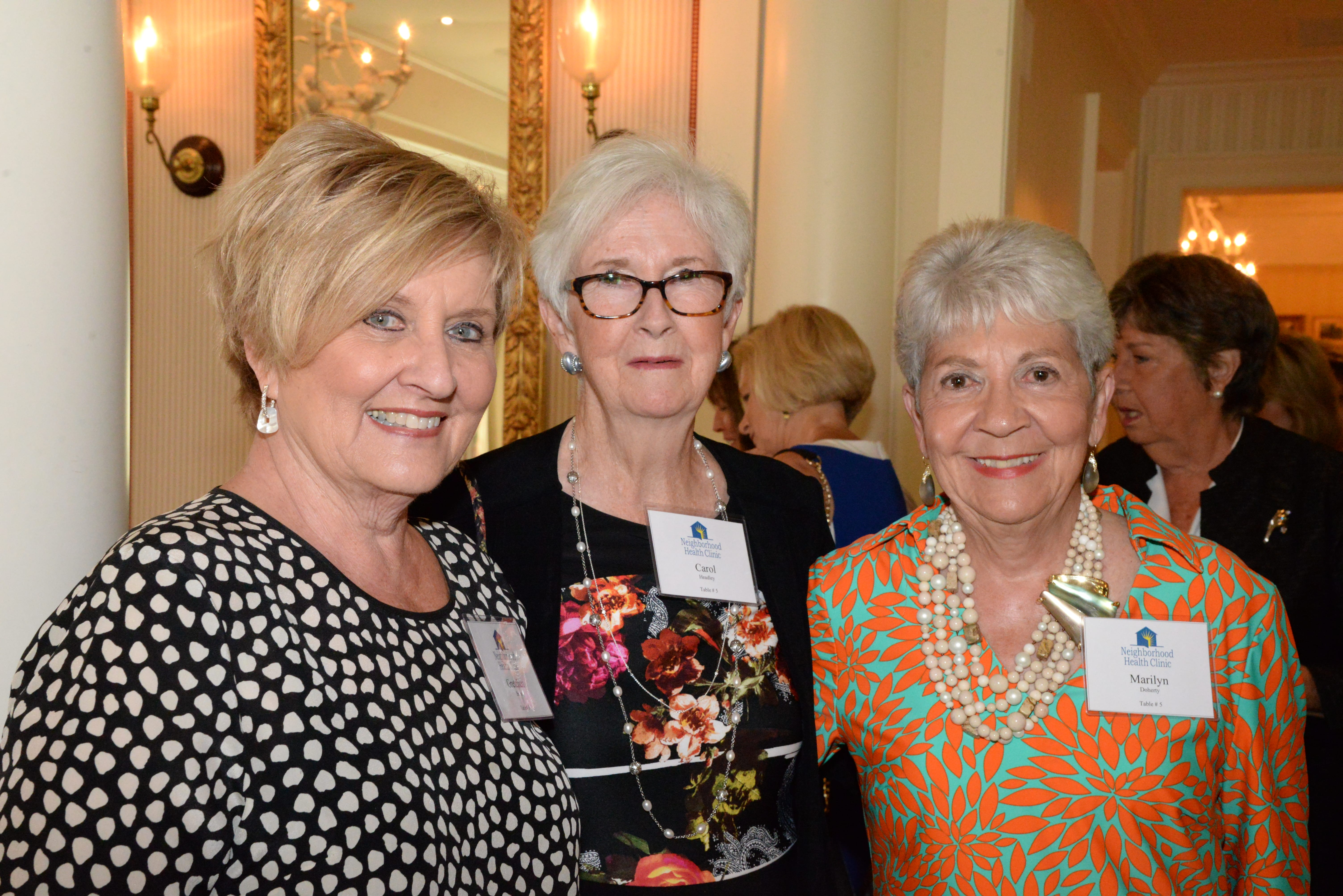 Gretchen Brown, Carol Headley, Marilyn Doherty