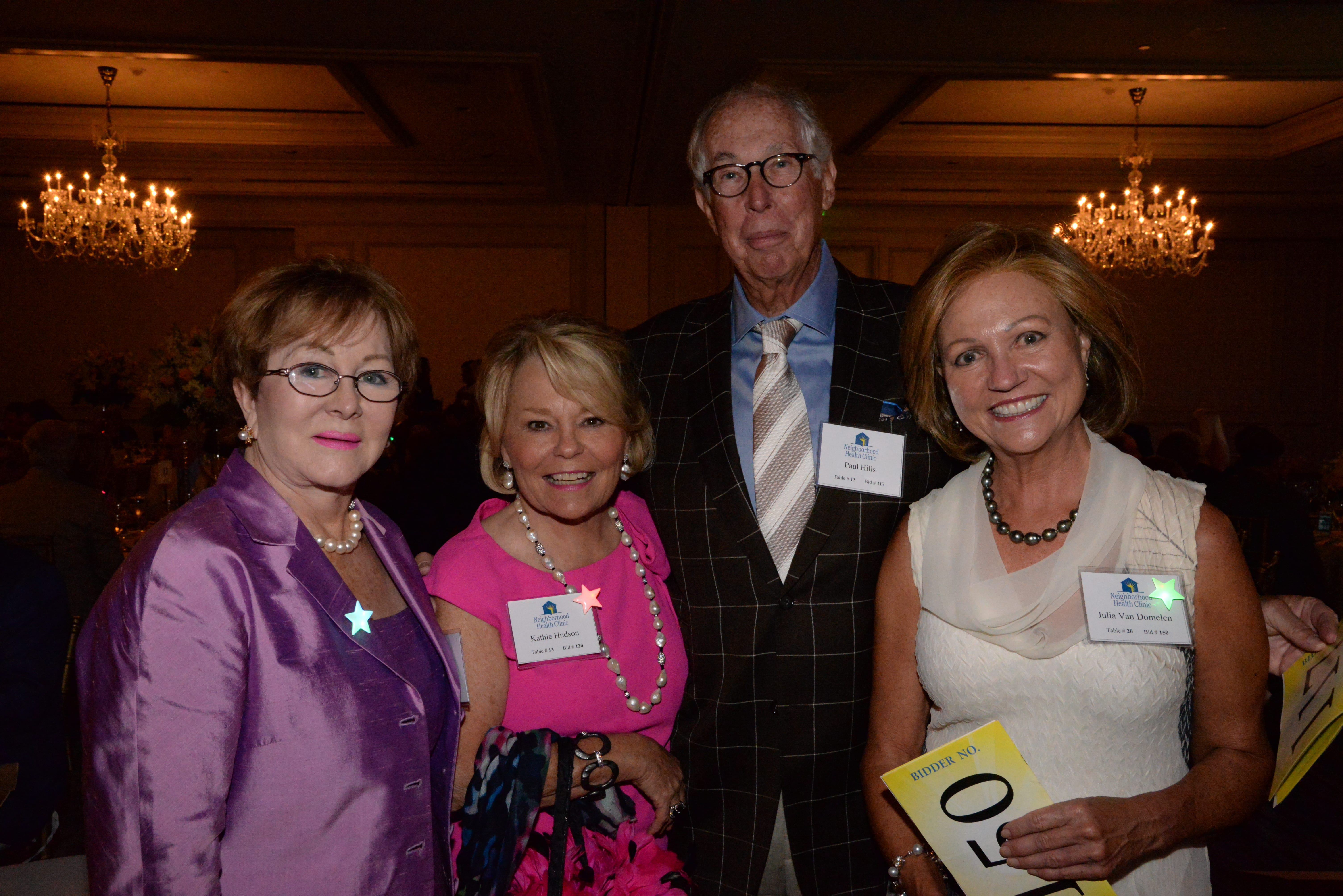 Evelyn Waldron, Kathie Hudson, Paul Hills, Julia Van Domelen