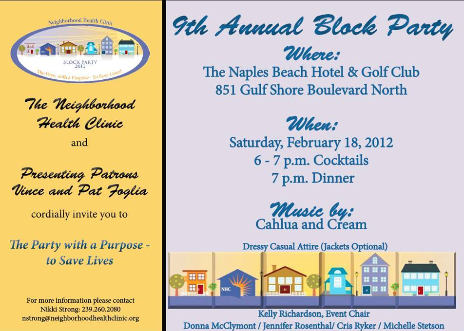 You are invited to the 2012 Block Party – Neighborhood Health ...